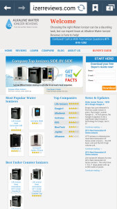 water ionizer consumer reports