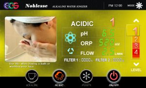 acidic ionized water
